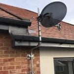 House with Sky Satellite Dish